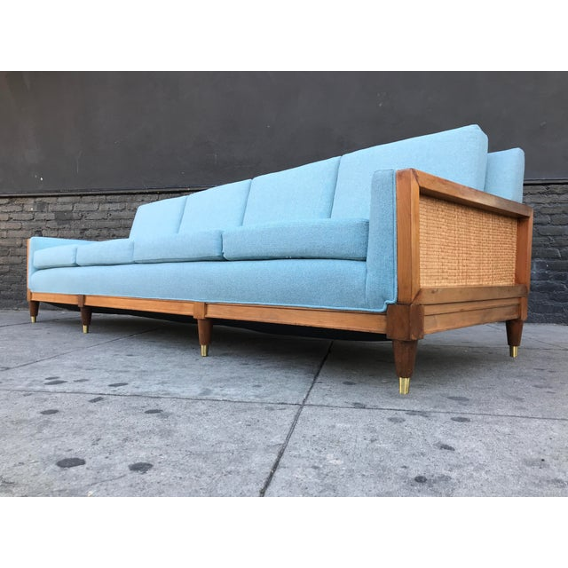 Vintage Mid Century Long Sofa For Sale - Image 9 of 13