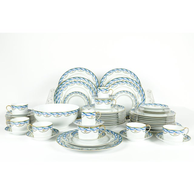 French Limoges Made for Tiffany Dinner Set - Set of 42 For Sale - Image 3 of 9