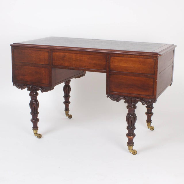 Rare Antique Irish Mahogany Desk For Sale - Image 4 of 10