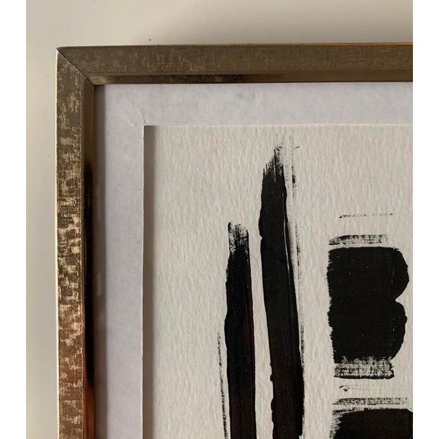 This original abstract acrylic painting is framed in a vintage gold frame. The perfect addition to any home or office. Can...