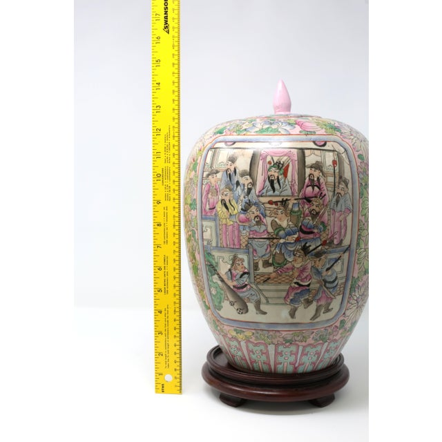 Vintage Hand-Painted Chinese Family Temple Jar For Sale - Image 11 of 12