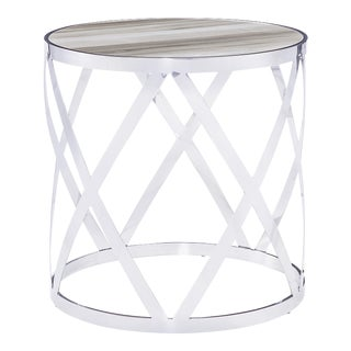 Blink Home Cream Side Table For Sale