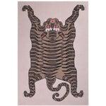 """Tiger Cashmere Blanket, Natural, 51"""" x 71"""""""
