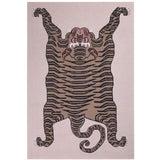 """Image of Tiger Cashmere Blanket, Natural, 51"""" x 71"""" For Sale"""