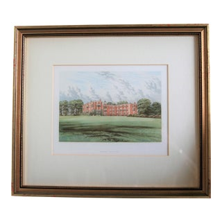 """1880 English Traditional Estate Print, """"Temple Newsam"""" For Sale"""