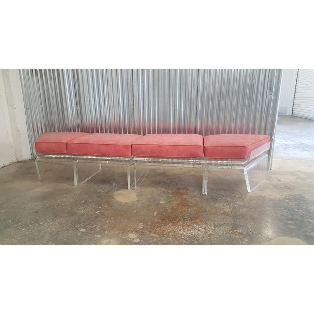 1970s Vintage Lucite Bench For Sale - Image 13 of 13