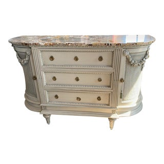 19th Century French Marble-Top Sideboard For Sale