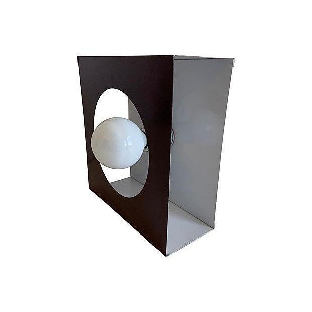 1970s Geometric Steel Light For Sale In Austin - Image 6 of 11