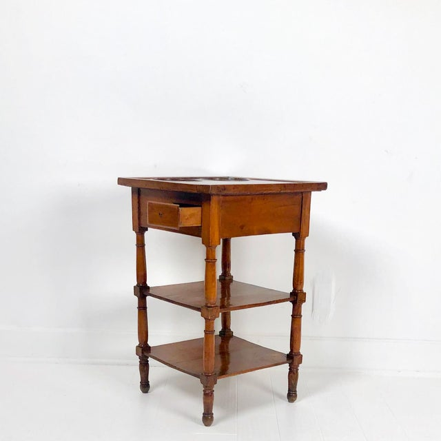 Louis XVI Walnut Marble Top Wine Table, France Circa 1780 For Sale In San Francisco - Image 6 of 7