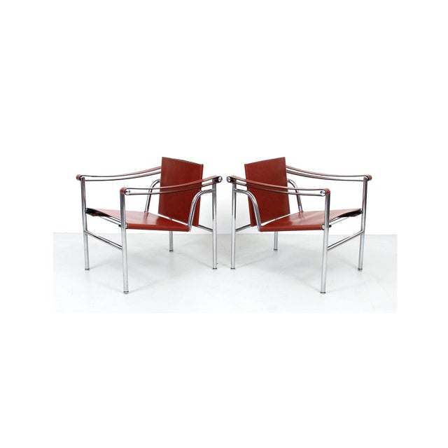 Pair of Le Corbusier LC1 Lounge Chairs for Cassina For Sale - Image 12 of 12