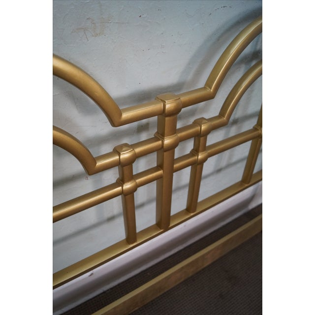 Mid-Century Gold Painted Metal Queen Headboard - Image 8 of 10