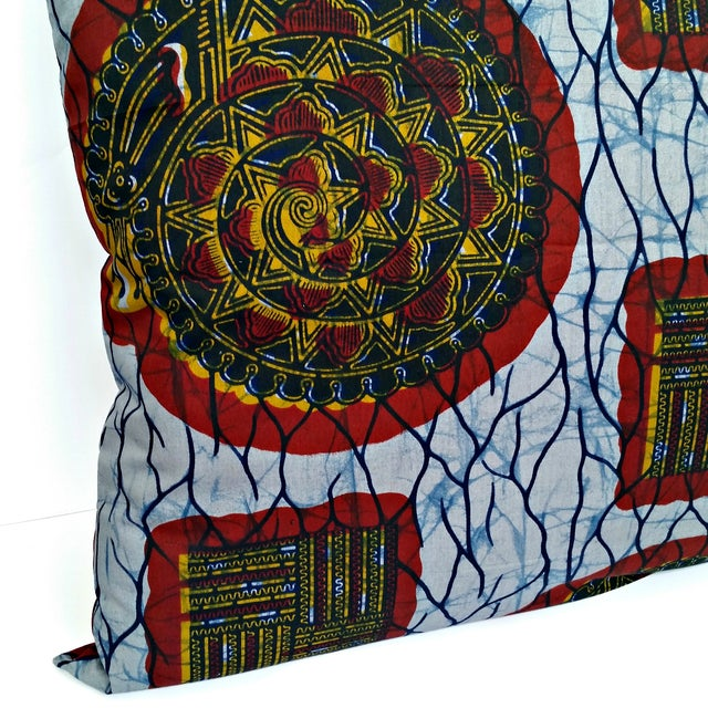 XL African Wax Print Fabric Pillow - Image 2 of 4