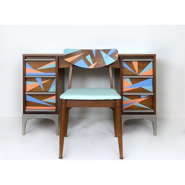 Brown 1960s Vintage Lane Furniture Mid-Century Modern Desk & Chair - 2 Pieces For Sale - Image 8 of 8