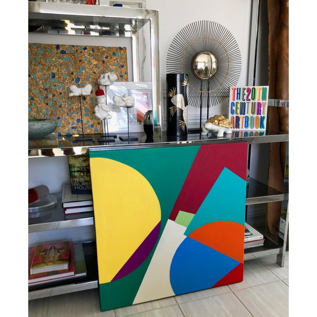 New large painting from my Palm Springs collection influence by late '60s California mid century style, culture and...