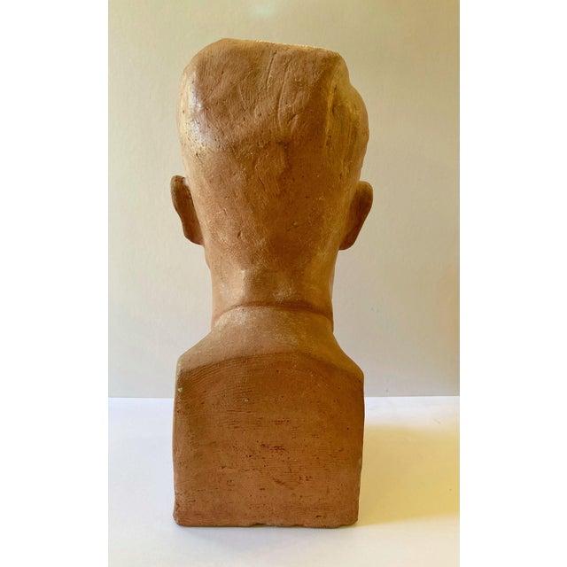 American Vintage Terra Cotta Bust Signed Lillian Alperson For Sale - Image 3 of 11