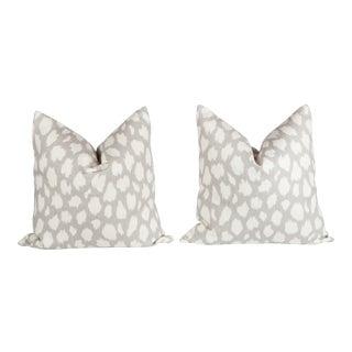 Leopard Leokat Pattern Pillows - A Pair