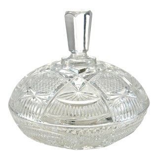 Antique Cut Crystal Lidded Bowl