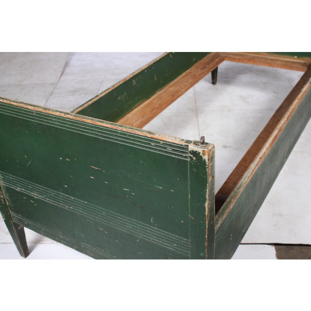 19th-C. Swedish Gustavian-Style Twin Bed - Image 3 of 4
