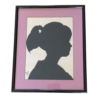 Vintage Silhouette Profile Wall Art For Sale