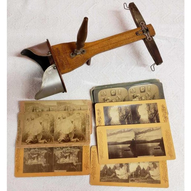 "1893 ""Saturn"" Scope Stereocard Viewer and Photograph Cards - 10 Pieces For Sale - Image 11 of 11"