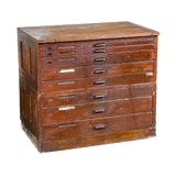 Image of Early 1900s Hamilton Flat File Typeface Printers Cabinet For Sale