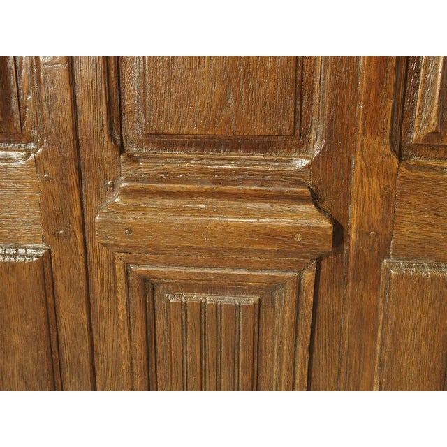 Early 1900s French Louis XIV Style Oak Entry Door For Sale - Image 4 of 11