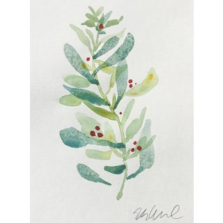 """Sage & Lime"" Original Watercolor Painting"