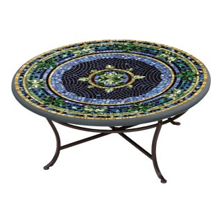 """Lake Como 36"""" Coffee Table with Black Base For Sale"""