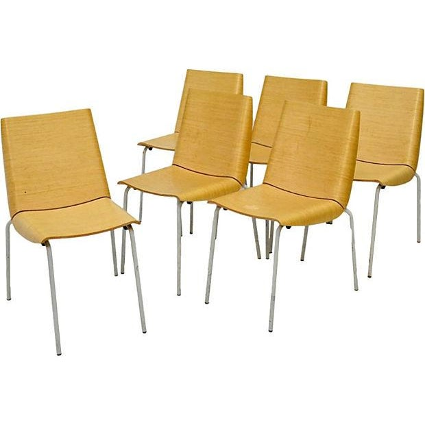 Mid-Century Modern Chairs - Set of 6 - Image 1 of 9