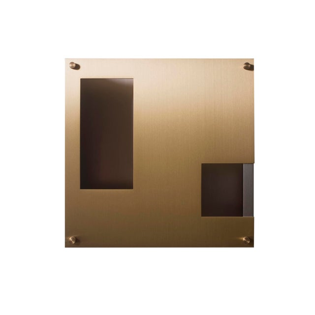 Modern Contemporary 001 Sconce in Brass by Orphan Work For Sale