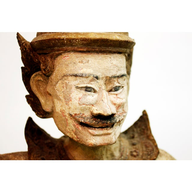 Early 19th Century Wooden Burmese Standing Nat Spirit For Sale - Image 5 of 6