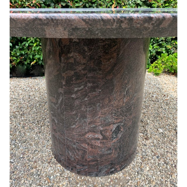 Mid 20th Century Granite Dining Center Table For Sale - Image 4 of 11