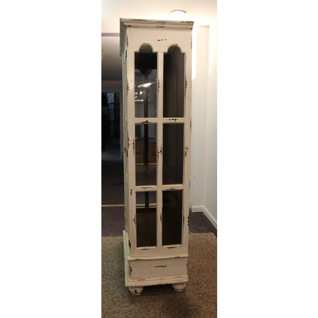 French Country White Distressed Pie Safe Cabinet - Image 7 of 11