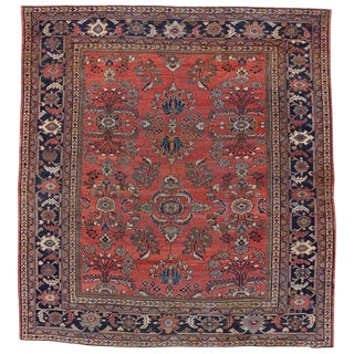 Antique Persian Mahal Rug with Modern Traditional Style For Sale