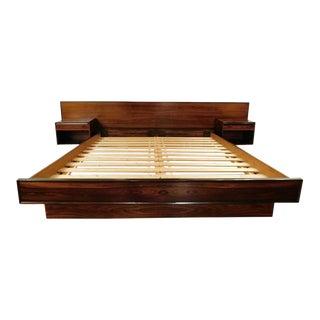 1960s Westnofa Platform Bedframe With Floating Shelves For Sale