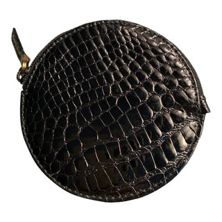 Gucci Shiny Black Alligator Coin Purse Never Used For Sale