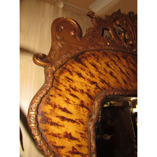 Theodore Alexander Theodore Alexander Hand Carved Mirror For Sale - Image 4 of 9