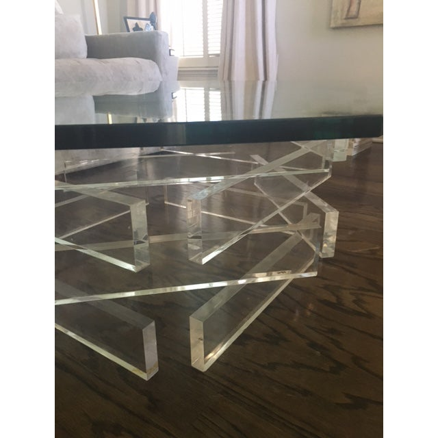Lucite 'Brick' Coffee Table - Image 4 of 7