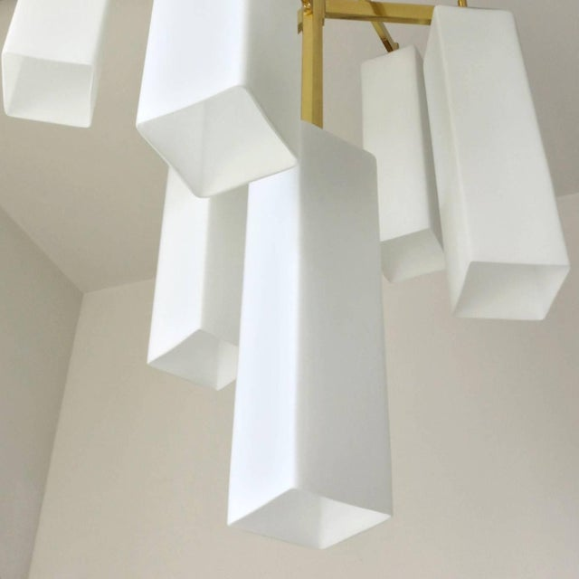 Italian Tiered Palazzo Chandelier by Fabio Ltd (2 Available) For Sale - Image 3 of 9