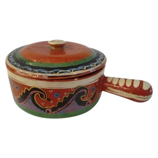 Mexican Redware Pottery Crock For Sale