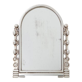 Silver Art Deco Giltwood Mirror For Sale