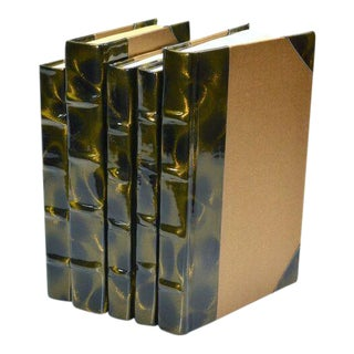 Prismatic Patent Brown & Gold Books - Set of 5 For Sale