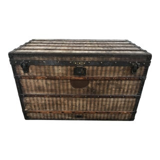 Vintage Louis Vuitton Rayee Canvas Steamer Trunk
