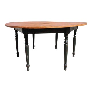 1950s French Country Maple Dining Table For Sale