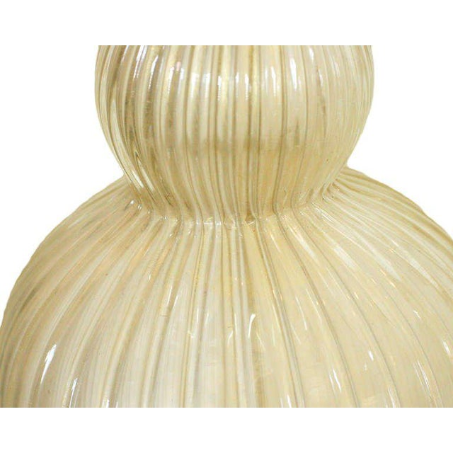 Large Handblown Murano Glass Table Lamp in Barovier Style For Sale In Los Angeles - Image 6 of 7