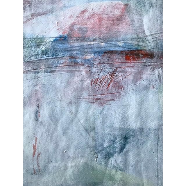 """Abstract 1980s Bay Area Artist """"East Creek Bridge"""" Abstract Painting For Sale - Image 3 of 6"""