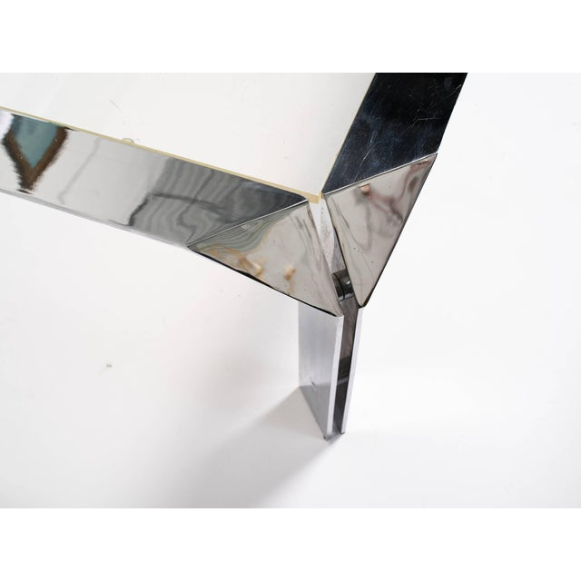 1970s Design Institute of America Chrome Coffee Table For Sale - Image 5 of 8