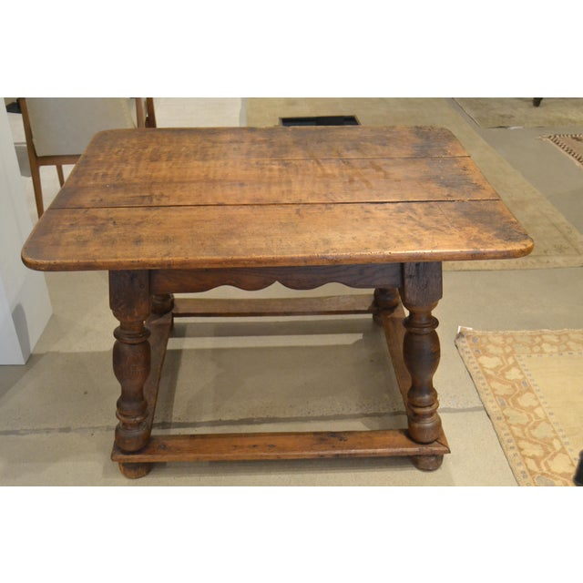 """Beautiful 18th century walnut 'table d'echangeur"""" from France. Wonderful dark walnut patina and wear in all the right..."""
