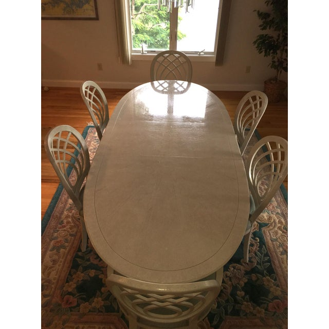 1990s Henredon Dining Table & Chairs For Sale - Image 5 of 9