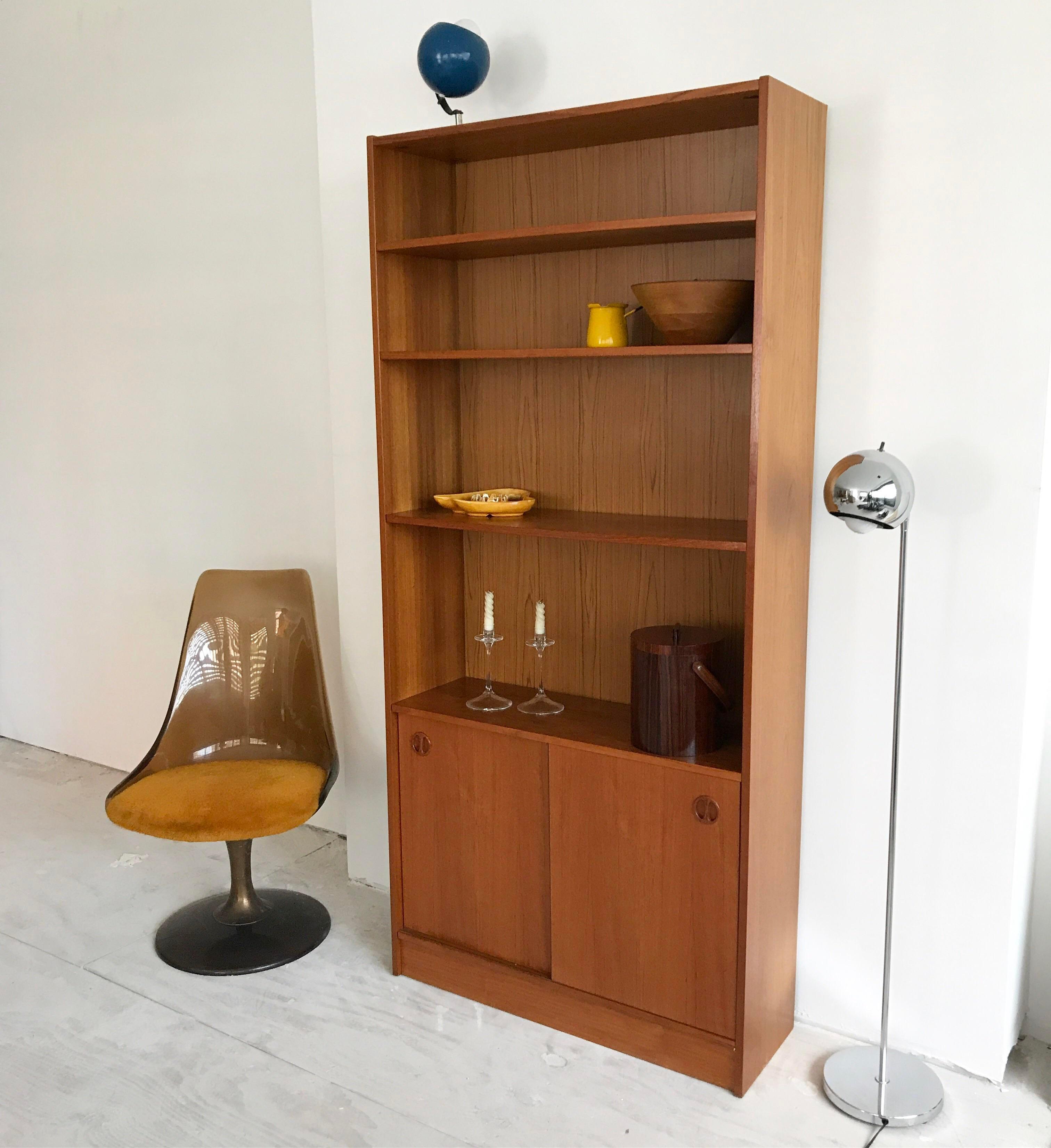 Amazing Poul Hundevad Danish Midcentury Teak Bookcase Image Of With